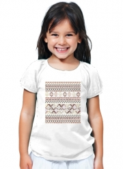 T-Shirt Fille BROWN TRIBAL NATIVE