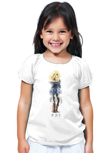 T-Shirt Fille C18 Android Bot