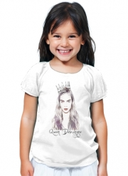T-Shirt Fille Cara Delevingne Queen Art