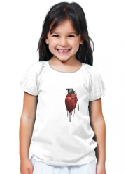 T-Shirt Fille Coeur Explosif