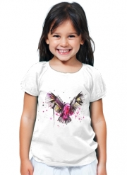 T-Shirt Girl Colored Owl