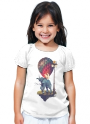 T-Shirt Fille Elephant Angel