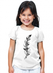 T-Shirt Girl Feather