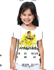 T-Shirt Girl Football Stars: James Rodriguez - Colombia