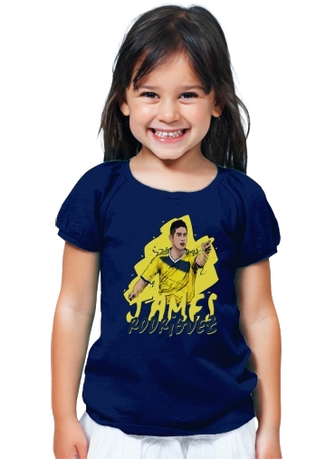 T Shirt Girl Football Stars James Rodriguez Colombia