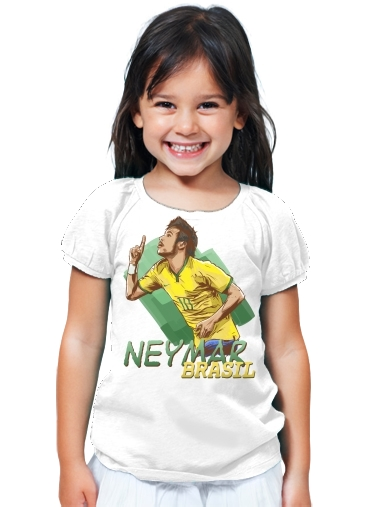 T-Shirt Girl Football Stars: Neymar Jr - Brasil