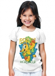 T-Shirt Fille Fuleco Brasil 2014 World Cup 01