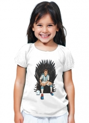 T-Shirt Fille Game of Thrones: King Lionel Messi - House Catalunya