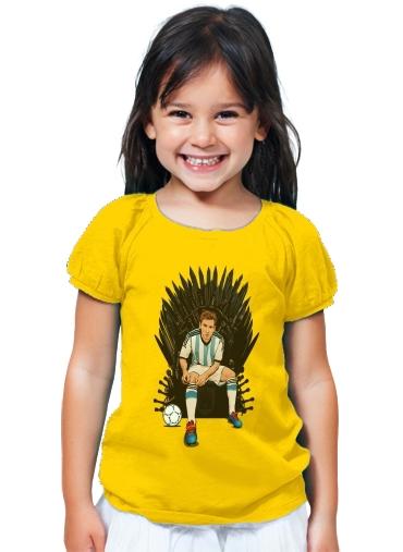 buy popular 134fd 8efec T-Shirt Girl Game of Thrones: King Lionel Messi - House Catalunya yellow -  Kids