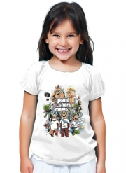 T-Shirt Fille Grand Theft Mario