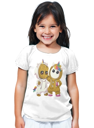 T-Shirt Fille Groot x Licorne