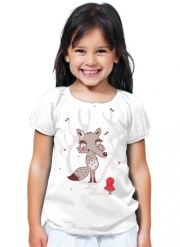 T-Shirt Fille Hello Big Wolf