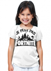 T-Shirt Fille Je peux pas j'ai Fortnite