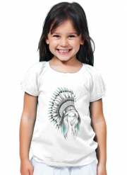 T-Shirt Fille Indian Headdress