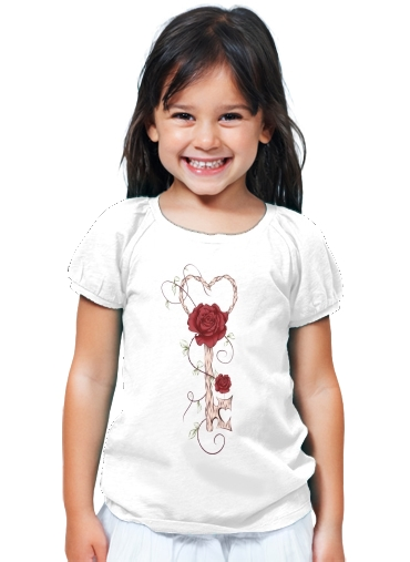 T-Shirt Fille Key Of Love