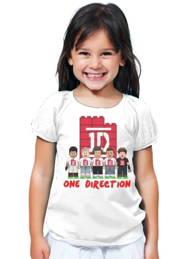 T-Shirt Girl Lego: One Direction 1D