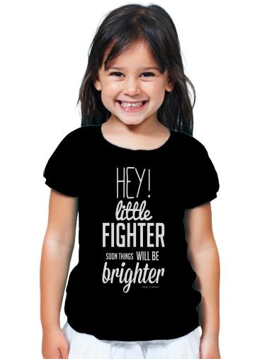 4c6d33538 T-Shirt Girl Little Fighter black - Kids
