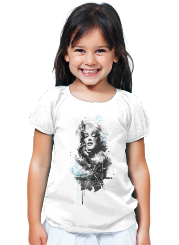 T-Shirt Fille Marilyn Par Emiliano