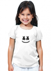 T-Shirt Fille Marshmello Or MashMallow