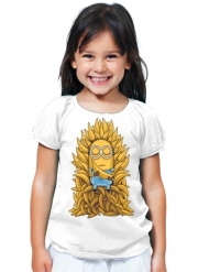 T-Shirt Fille Minion Throne