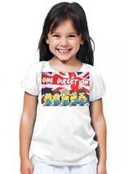T-Shirt Girl Minions mashup One Direction 1D