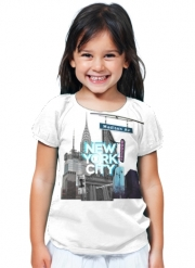 T-Shirt Fille New York City II [blue]
