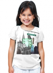 T-Shirt Fille New York City II [green]
