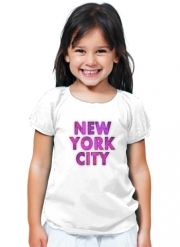 T-Shirt Fille New York City Broadway - Couleur rose