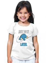 T-Shirt Girl Nike Parody Just do it Late X Ronflex