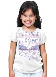 T-Shirt Fille One Direction 1D Music Stars