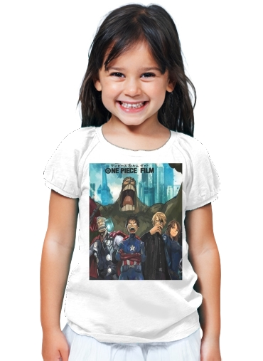 T-Shirt Fille One Piece Mashup Avengers