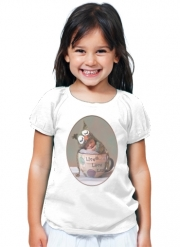 T-Shirt Girl Painting Baby With Owl Cap in a Teacup