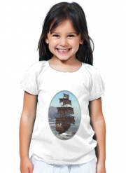 T-Shirt Fille Bateau Pirate