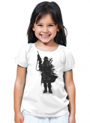 T-Shirt Fille Post Apocalyptic Warrior
