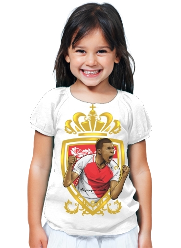 t shirt fille principaute de monaco mbappe white enfant. Black Bedroom Furniture Sets. Home Design Ideas