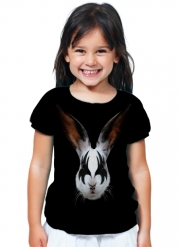 T-Shirt Girl Kiss of a rabbit punk