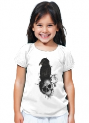 T-Shirt Fille Raven and Skull