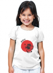 T-Shirt Fille Red Sun Young Monkey