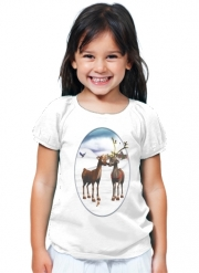T-Shirt Fille Reindeers Love