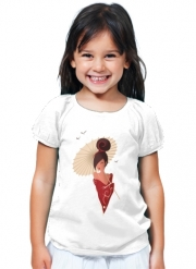 T-Shirt Fille Sakura Asian Geisha