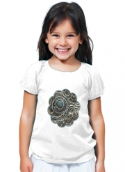 T-Shirt Fille Silver glitter bubble cells
