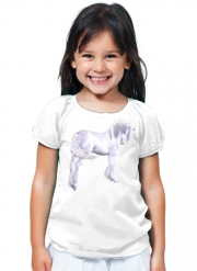 T-Shirt Girl Silver Unicorn