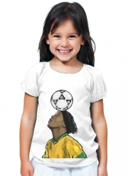 T-Shirt Girl The Magic Carioca Brazil Pixel Art