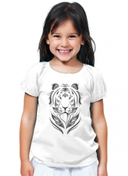 T-Shirt Girl Tiger Feather