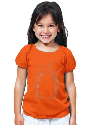 t shirt girl poetic creature orange kids