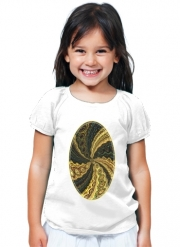 T-Shirt Girl Twirl and Twist black and gold