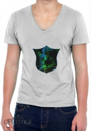 T-Shirt homme Col V Abstract neon Leopard