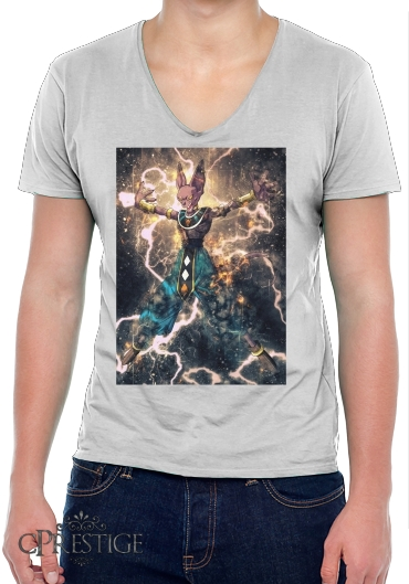 T-Shirt homme Col V Beerus