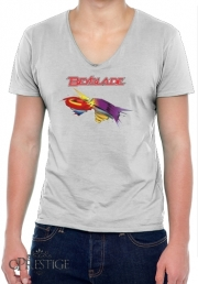 T-Shirt homme Col V Beyblade toupie magic