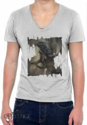 T-Shirt homme Col V Black Dragon